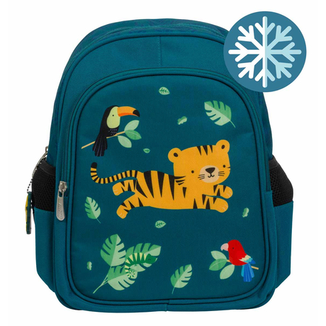 A Little Lovely Company - Kinder Rucksack mit Isoliertem Fach, Dschungel Tiger