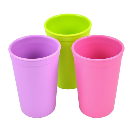 Re-Play Kinder Trinkbecher Purple, 3er Set