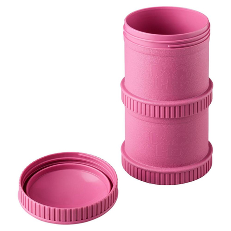 Re-Play Snack Stack, stapelbare Vorratsdosen, 2er Set, Pink