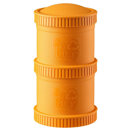 Re-Play Snack Stack, stapelbare Vorratsdosen, 2er Set, Orange